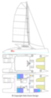 14R - Side Elevation, Deck and Hull General Arrangement