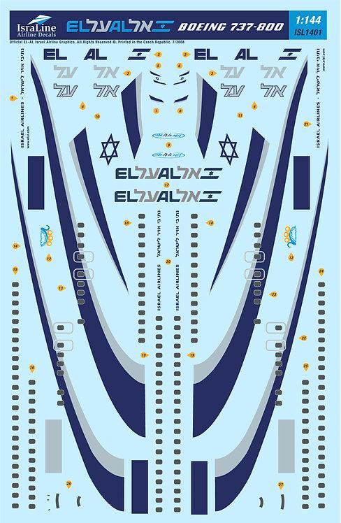 El-Al Boeing 737-800 1:144 (ISL1401)