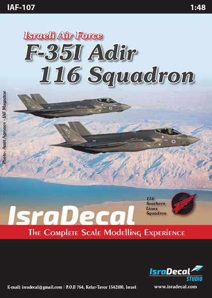 IAF F-35I 'Adir' 116 Sq. 1:48 (IAF107)