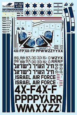 IAF Boeing B377, C-97 & Stratocruiser 1:72 (IAF78)