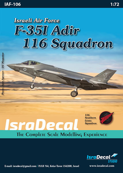 IAF F-35I 'Adir' 116 Sq. 1:72 (IAF106)