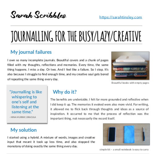 Creative Journalling Guide