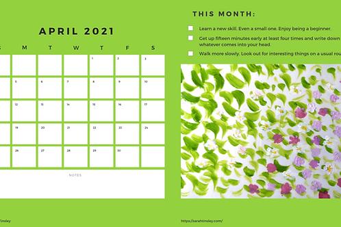 Creative Living Calendar