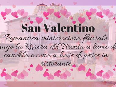 San Valentino: Romantica minicrociera fluviale lungo la Riviera del Brenta a lume di candela e cena