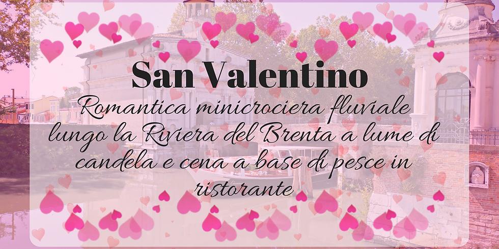 San Valentino: romantica minicrociera fluviale in Riviera del Brenta a lume di candela e cena di pesce in ristorante