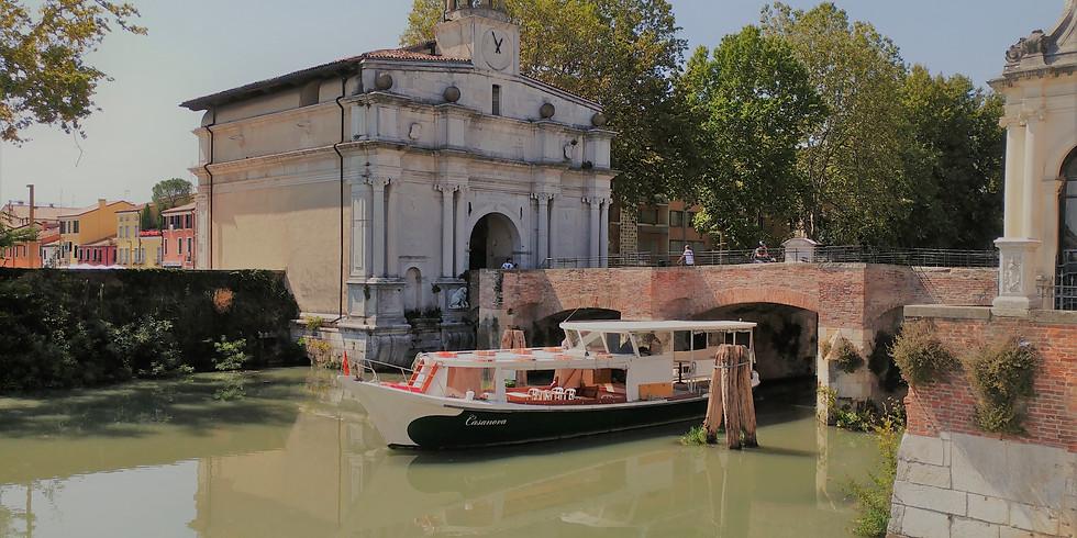 16 luglio h 20,30: crociera fluviale a Padova al tramonto e brindisi a bordo