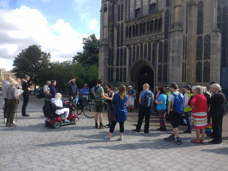 Send off from Norwich on Tuesday morning