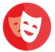 Theatre masks icon