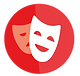 Theatrical maks icon