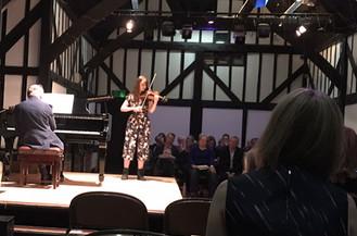 Sophia Bartlett plays the viola