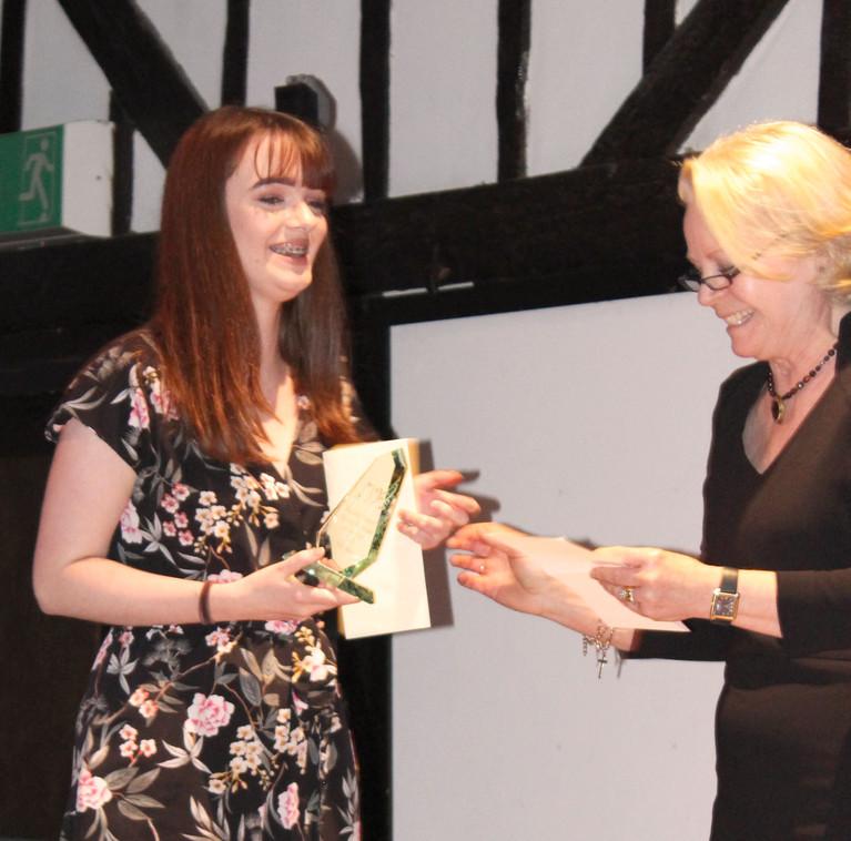 Third place Sophia Bartlett receives award