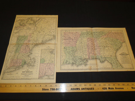 1858 Mitchell's School Atlas published by E.H. Butler