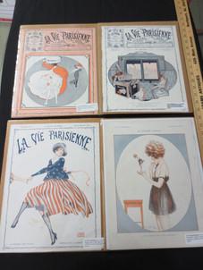 Vintage La Vie Parisienne, Vintage Magazine Cover Fashion Prints