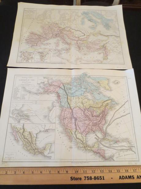 Antique French Atlas Librairie Classique d'Eugene Belin a Paris Par Drioux et Ch. Leroy maps circa 1873
