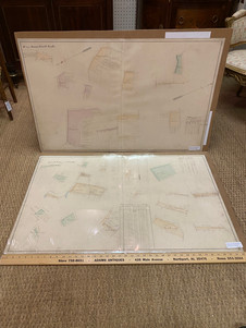 Antique French Bourgogne region hand colored land use maps       circa 1851