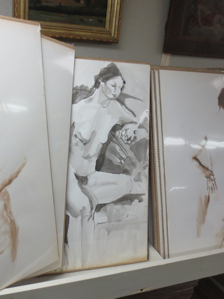 Large asortment of Vintage French Jacqueline Oblin (1933-1999) watercolour on ink & color pencil lithograph nudes $295 each