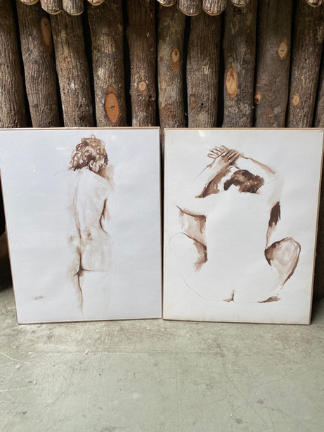 JOW12 Pen & Watercolor Nude Series