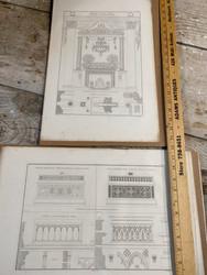 """Antique architectural engravings from """"Complement de L'Encyclopedie Moderne ou Dictionnaire Abrege des Sciences, des Lettres des Arts de L'industrie, de L'agriculture et du commerce Atlas"""" by A. Ribault circa 1870 Plate size 9.5""""x13.5"""" $25 each"""