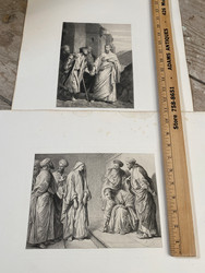 """Antique French engravings of the Four Gospels from """"Les Saints Evangiles"""" by Alexandre Bida circa 1873 Plate size 7""""x9.5"""" $45 each"""