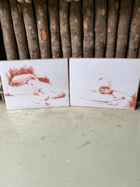 JOW57 Sepia & Watercolor Nude Series