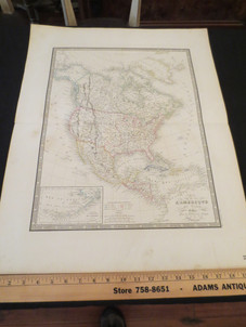 Antique French hand colored maps Atlas Geographie Moderne By J. Andriveau & Goujon circa 1850 $145-165