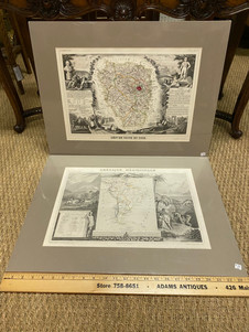 Antique French Atlas National Illustre prints of French territories & resources maps  circa 1860s