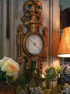 Antique French gilt carved barometer is always a statement piece for any space
