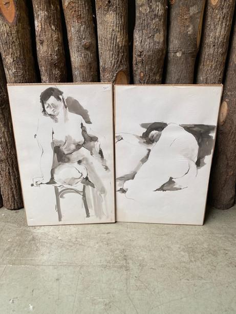 JOW49 Pen & Watercolor Nude Series