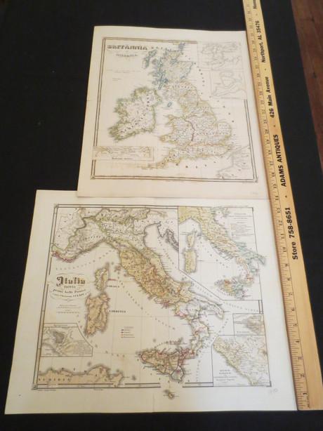 Antique German Atlas Antiquus Delineavit Dr. C. de Spruner. Engraved by Justus Perthes circa 1850   $195