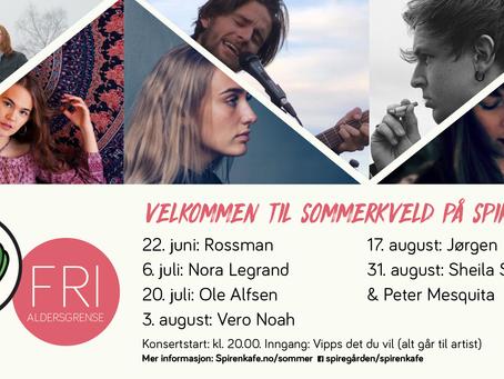 Sommerkveld på Spiren: Konserter