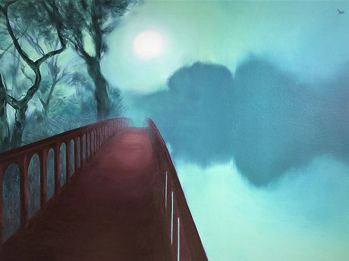 Signed Giclee print of Red Bridge