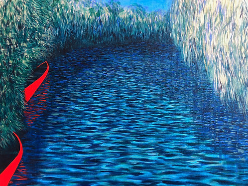 Signed Giclee print of Two Red Canoes