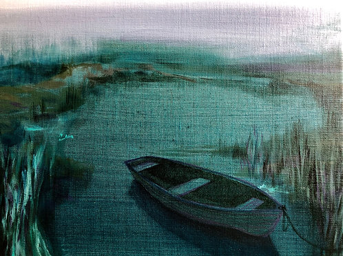 Signed Giclee print of Still Boat