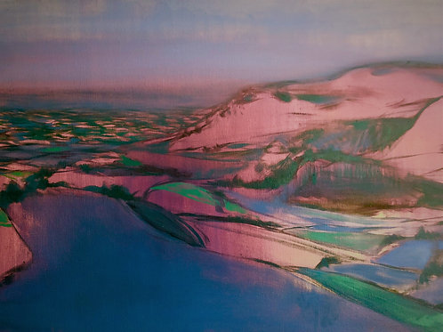 Signed Giclee print of Downland View