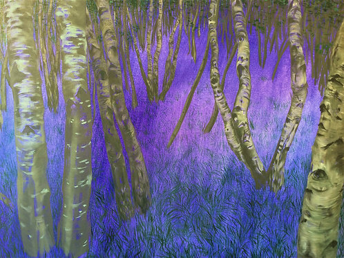 Signed Giclee print of Bluebell Wood Nocturn