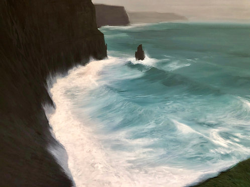 Signed Giclee print of Moher Swell
