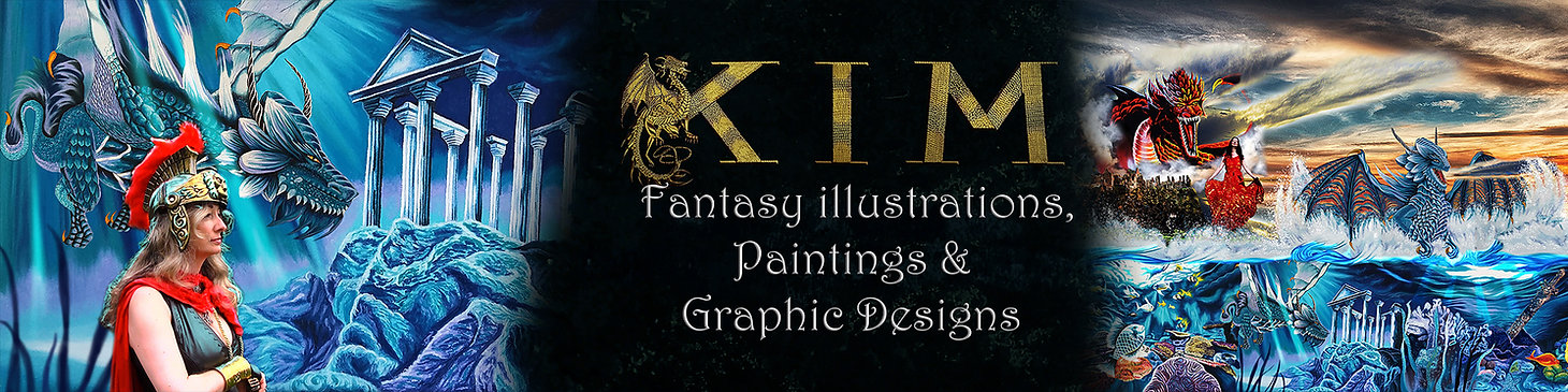 Fantasy Illustrations, Paintings & Graphic Designs, Dragons, Castle & all things mystical