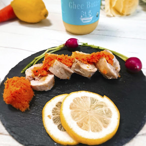 Ghee  |  Chicken Ham with Carrot Sauce