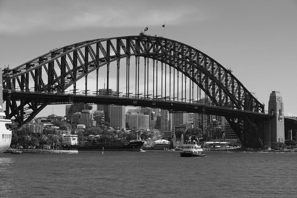 Harbour Bridge B&W