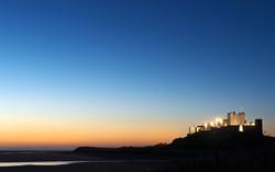 Bamburgh Castle at Dawn