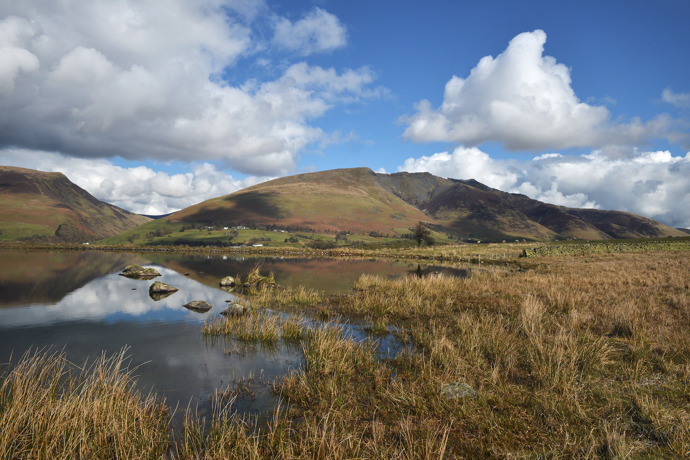 Blencathra over Tewet Tarn