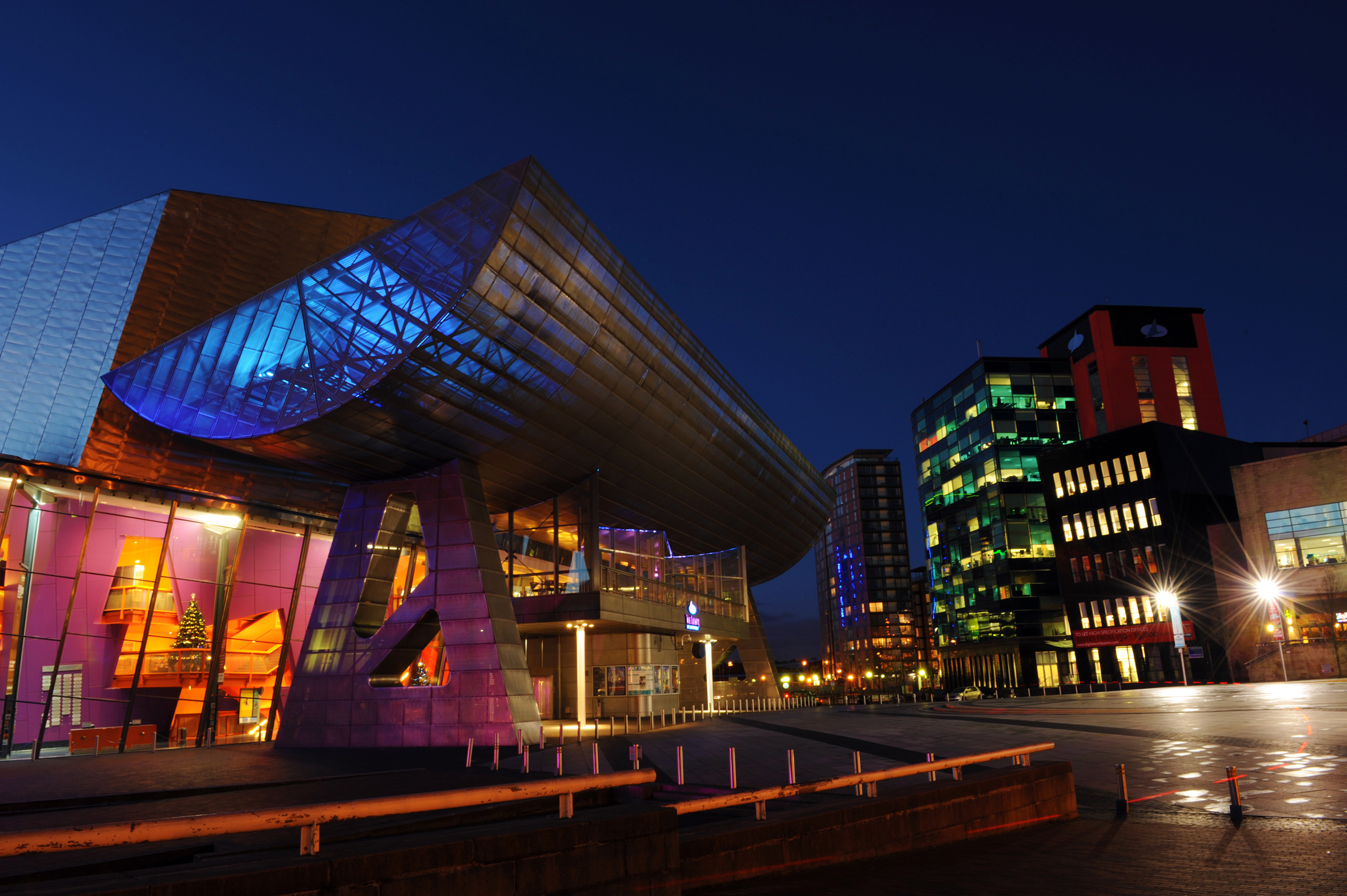 The Lowry Theatre and surroundings