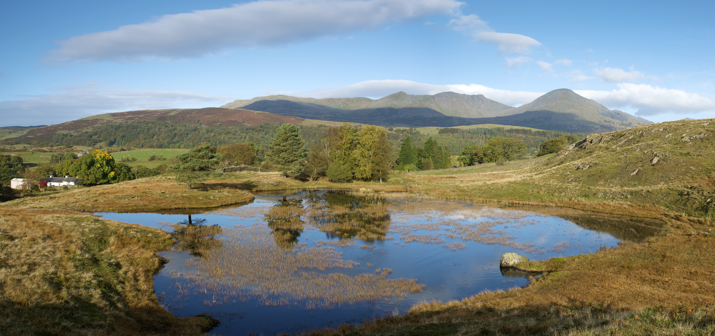 Kelly Hall Tarn and Coniston Hills