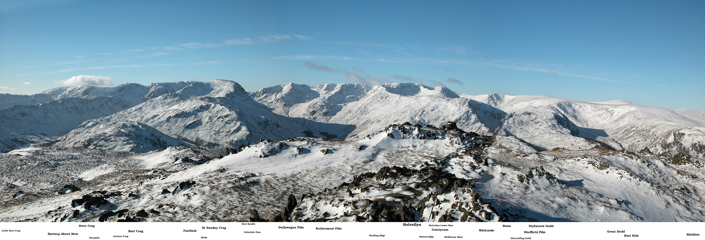 Helvellyn from Place Fell Panorama