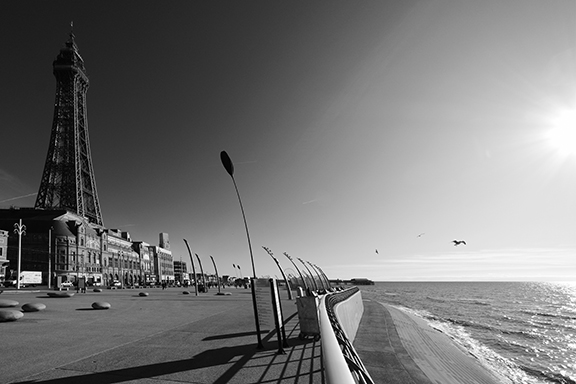 Blackpool Tower in B&W