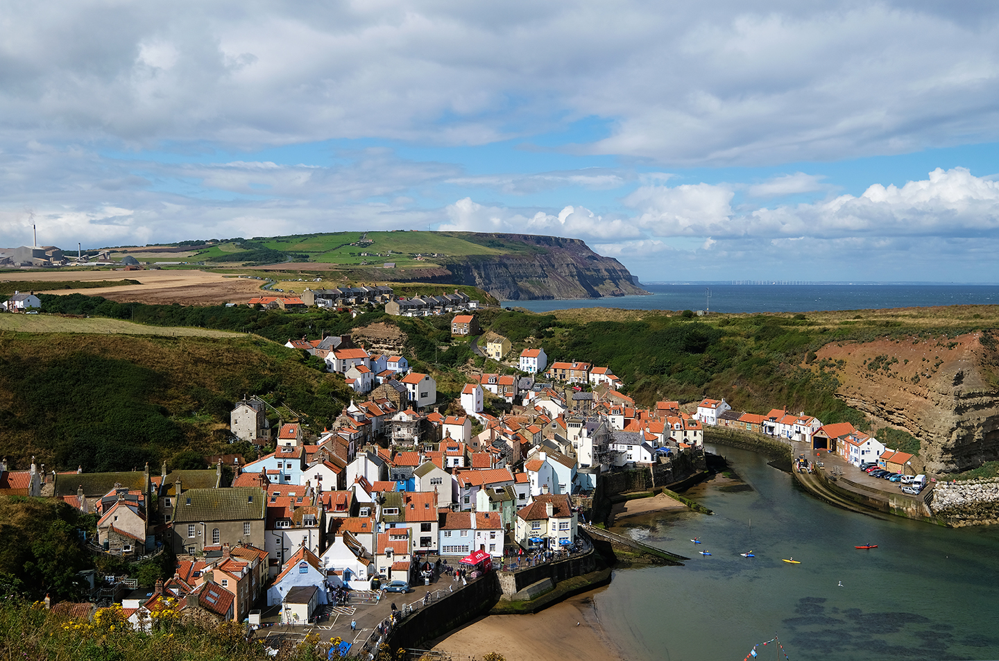 Staithes from Cleveland Way