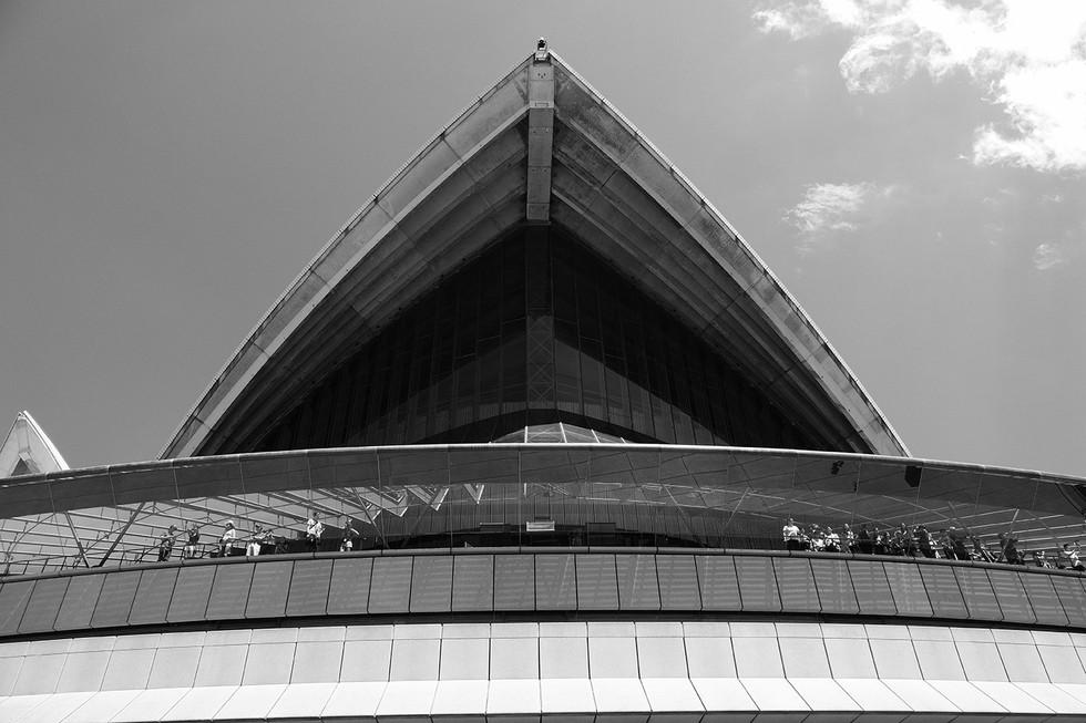 Close-Up Beneath Opera House Sail