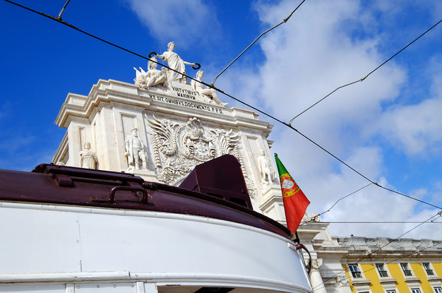 Tram and Arch