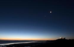Night Sky over Bamburgh Castle