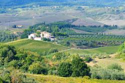 Landscape near to San Gimignano